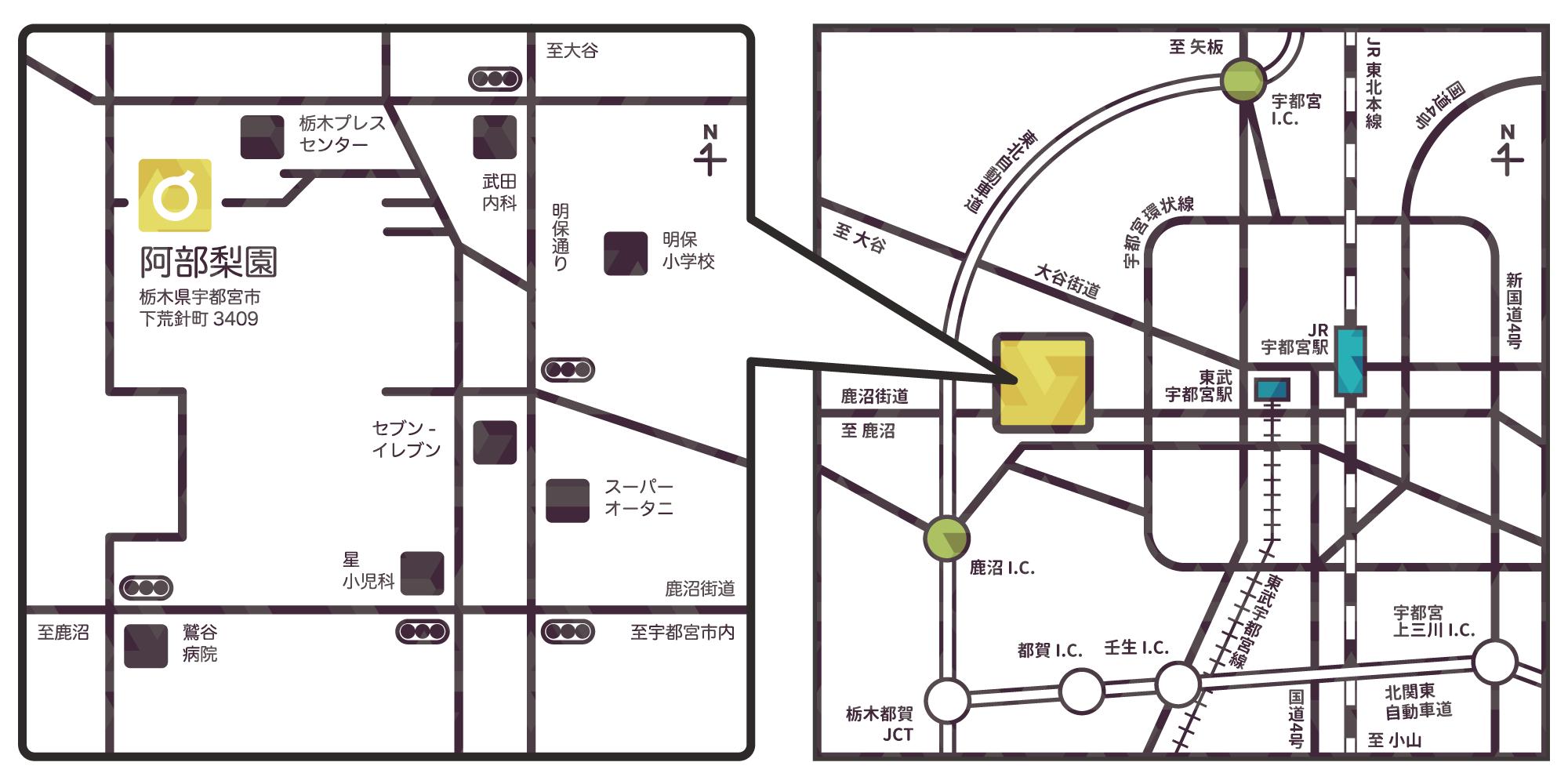 阿部梨園の知恵袋 087 地図イラスト